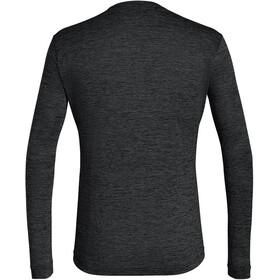 SALEWA Puez Melange Dry Langærmet T-shirt Herrer, black out melange
